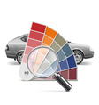 Color Palette for Car vector image vector image
