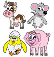 country animals collection 1b vector image