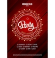 Dance party poster and flyer background vector image vector image
