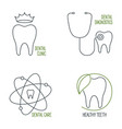 dental care icons set vector image vector image