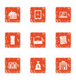 document chief icons set grunge style vector image vector image