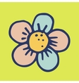 Doodle flower vector image vector image