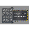 electronic lock with password access control vector image