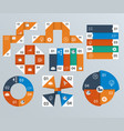 elements of infographics pie charts vector image