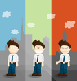 emotion salary man cartoon lifestyle vector image
