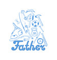 fathers day instruments sports equipment vector image vector image