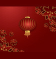 festive red lanterns vector image
