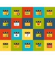 Flat icons set 16 vector image vector image