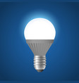 glowing led light bulb - modern realistic vector image