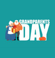 grandmother and grandfather grandparents day vector image vector image