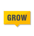 grow price tag vector image vector image