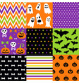 halloween set patterns vector image