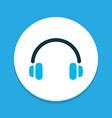 headphone icon colored symbol premium quality vector image vector image