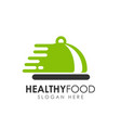 healthy food logo design food delivery logo vector image vector image