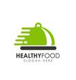 healthy food logo design food delivery logo vector image