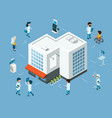 hospital concept isometric doctors medical vector image vector image