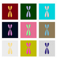 icons set in flat style chromosome vector image vector image