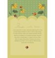 Invitation poster with sunflowers and birds vector image vector image
