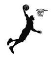 isolated Basketball player Slam Dunk vector image vector image