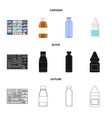 isolated object of retail and healthcare symbol vector image vector image