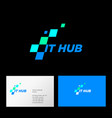 it hub logo web interface icon identity vector image