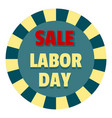 labor day sale logo icon flat style vector image