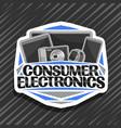 logo for consumer electronics vector image
