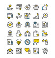 loyalty program line icons vector image vector image