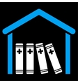 Medical Library Icon vector image vector image