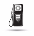 monochrome petrol station icon vector image