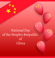 october national china day concept banner vector image