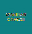 ovarian cancer concept word art vector image vector image