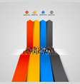 people crowd on graph vector image
