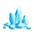 pieces and crystals ice icebergs for design vector image