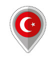 pin location turkey flag icon vector image