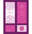 pink flowers lineart vertical frame pattern vector image vector image