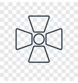 radiation concept linear icon isolated on vector image