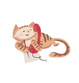 red phone cat vector image vector image