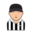 referee man uniform icon vector image