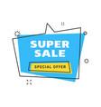 sale banner design template flat line geometric vector image vector image