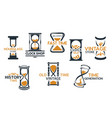 sandglass and hourglass store icons vector image vector image