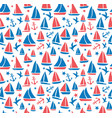 seamless abstract sea background sailboats on vector image vector image
