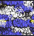 seamless pattern graffiti vector image vector image