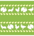 Seamless pattern with farm birds silhouettes vector | Price: 1 Credit (USD $1)