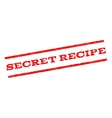 Secret Recipe Watermark Stamp vector image vector image