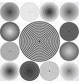 set concentric circle elements vector image vector image