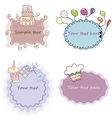 Set of cute birthday invitations vector image