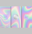 set with holographic backgrounds vector image vector image