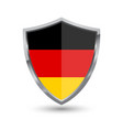 shield with flag of german isolated vector image vector image