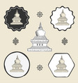 stupa temple buddhism icon flat web sign symbol vector image vector image